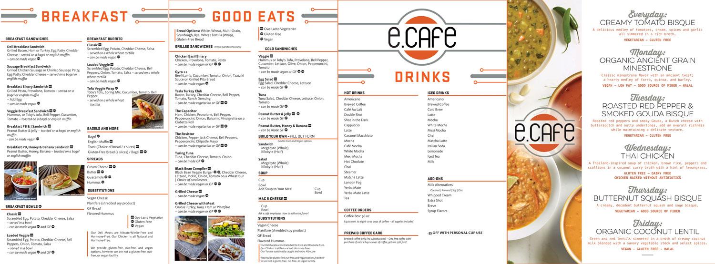 ecafe menus