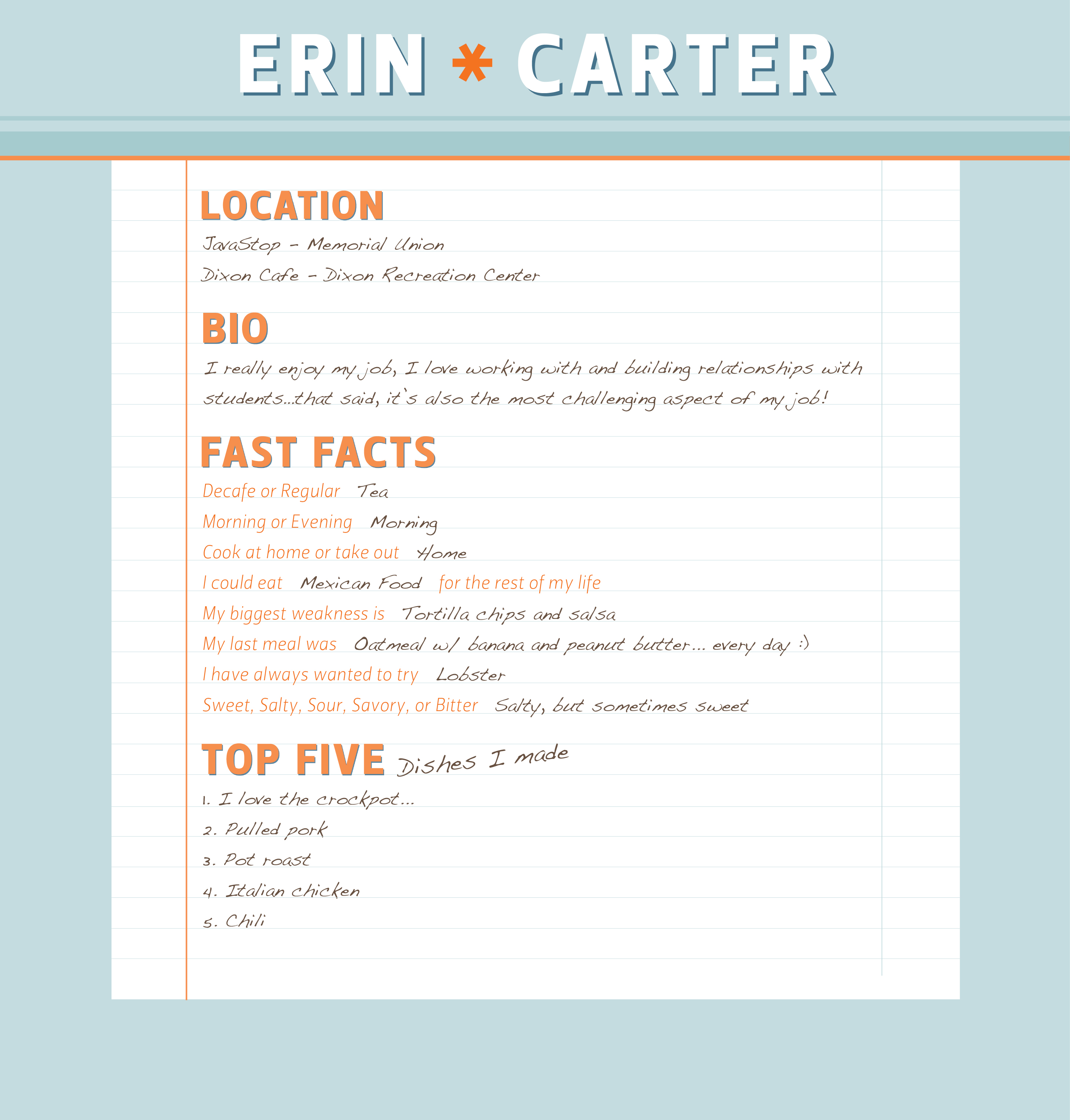 Meet Erin Carter Manager of Dixon Cafe and JavaStop