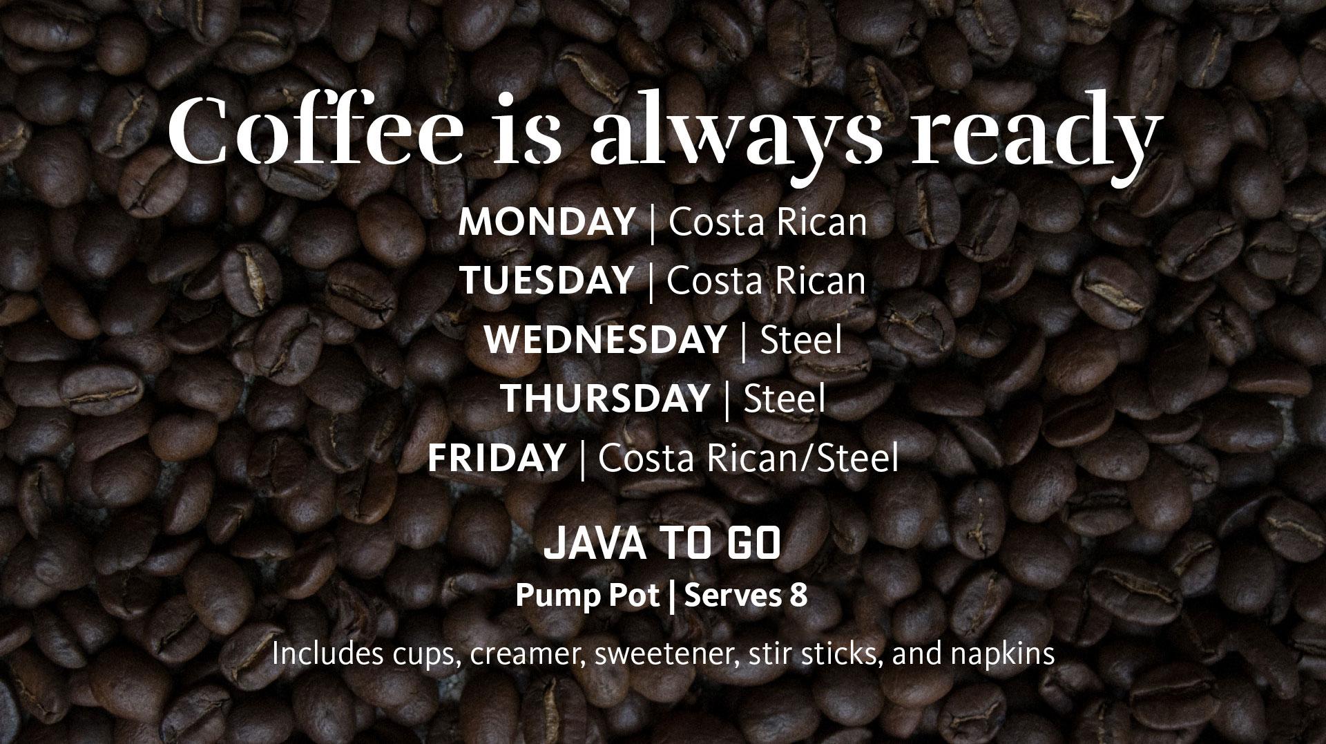 Java II coffee types
