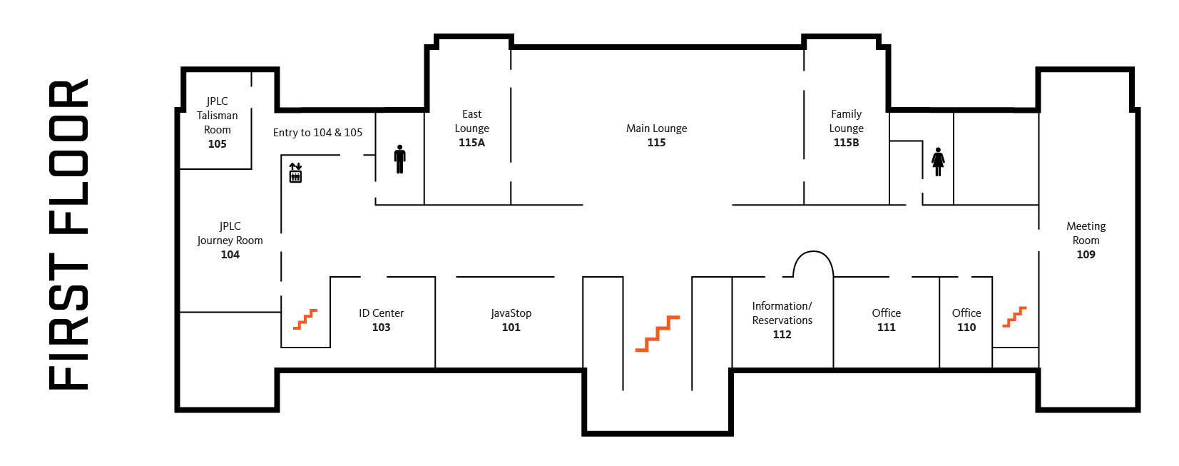 Map of the First floor