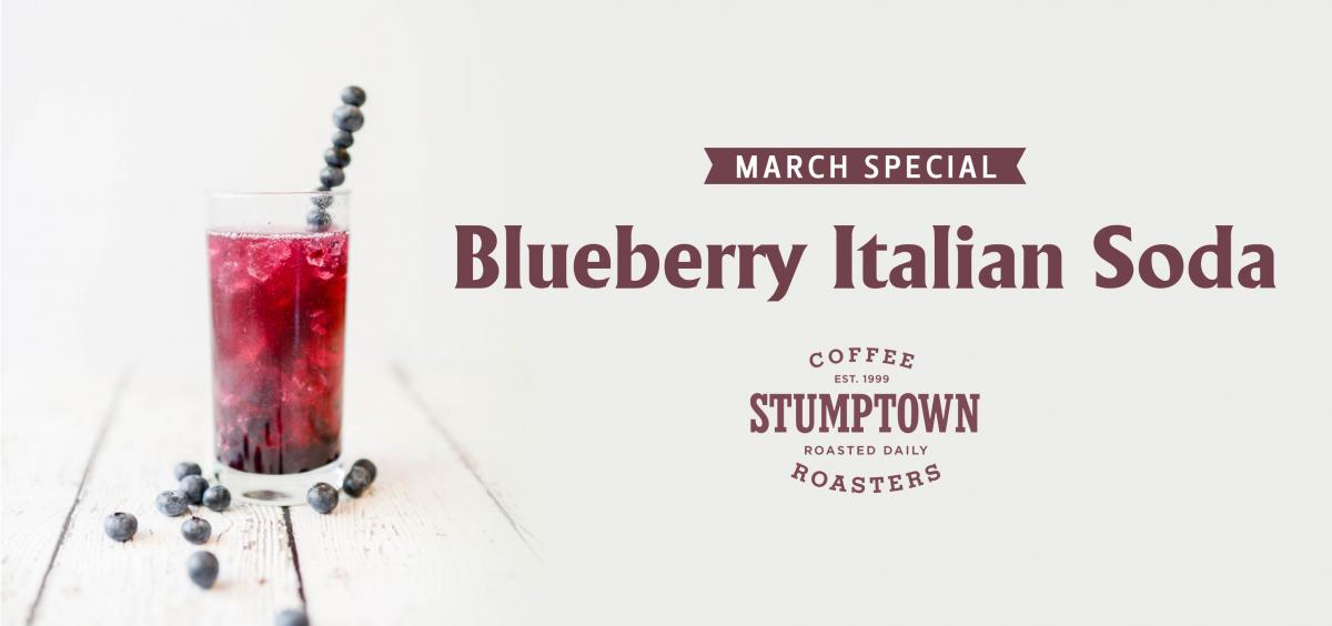 Ava's Cafe April Stumptown Special: Blueberry Italian Soda