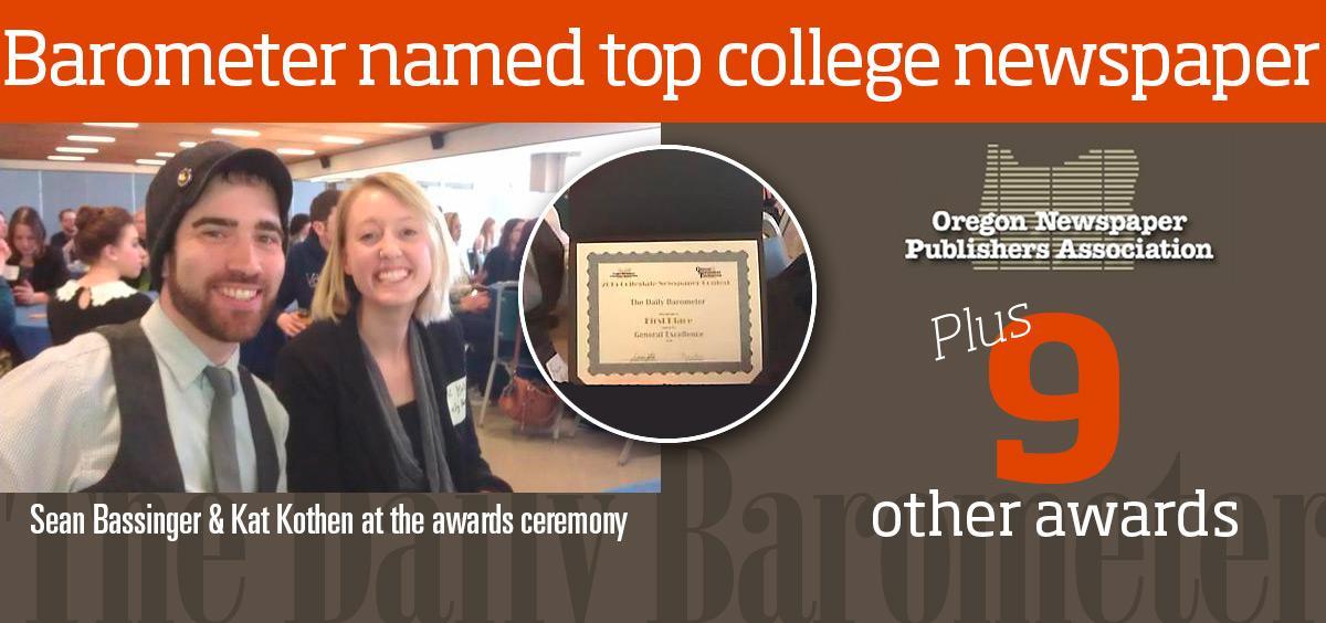 Barometer named top college newspaper
