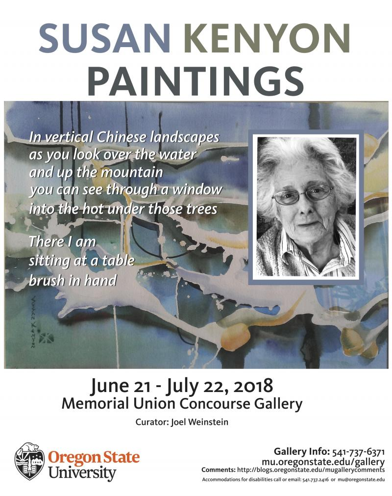 Gallery Exhibit Poster: Susan Kenyon
